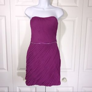 Promgirl Purple Ruched Short Party Dress size 9